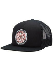 9f93cee969c Independent Red White Cross Trucker Hat. Black