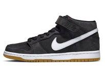 348c6678b Nike SB Dunk Mid Pro Shoes Black White-Black