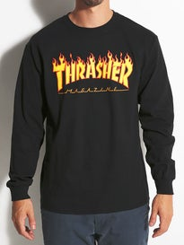 626c87b79272 Thrasher Embroidered Outlined Longsleeve T-Shirt