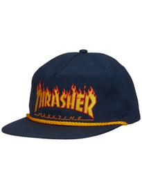 Thrasher Flame Rope Snapback Hat 7abdb4235545
