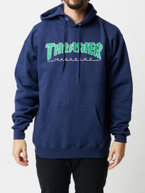 Thrasher Outlined Hoodie. Navy c0387f1fa33