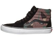 18b1c0841c7cb Vans Sk8-Hi Pro Shoes Camo Black White