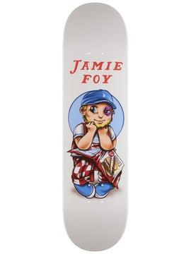 "Deathwish Skateboards Jamie Foy Gang Name Silver Foil Skateboard Deck 8/"" x 31."