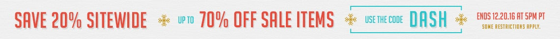 20% off Sitewide up to 70% off Sale items