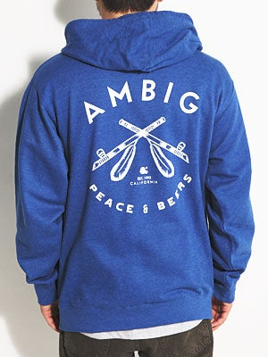 Ambig Native Hoodzip Royal MD