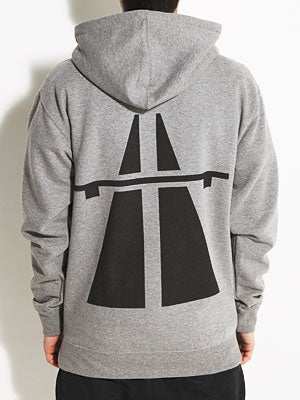 Autobahn Roadsign Hoodie Athletic Heather MD