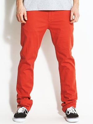 Davis Slim Chino Pants Brick 30
