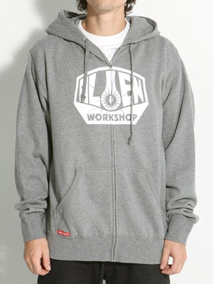 Alien Workshop OG Logo Hoodzip Heather Grey SM