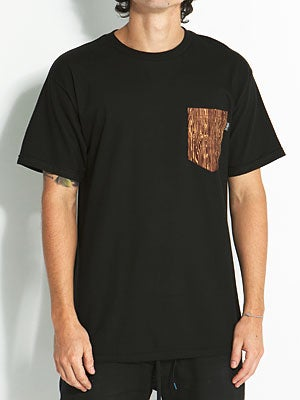 Bohnam Grain Pocket Tee Black MD