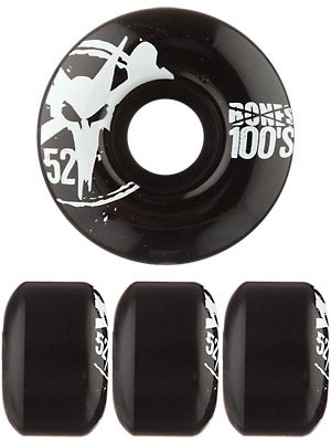 Bones 100's #8 Wheels  Black