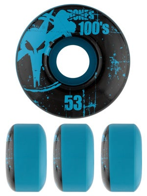 Bones 100's Blue Wheels