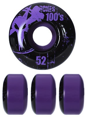 Bones 100's Purple Wheels