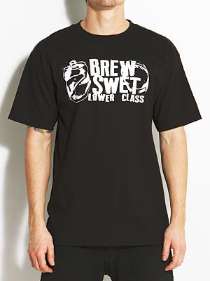 Brew Swet Crushed Tee Black MD