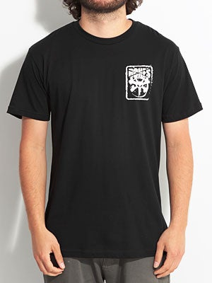 Bones Pocket Logo Tee Black SM