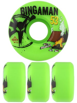 Bones STF Bingaman Camp Green V2 Wheels
