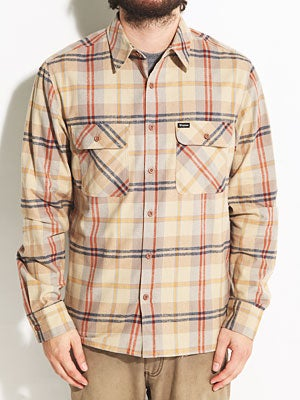 Brixton Archie Custom Flannel Shirt Tan XL