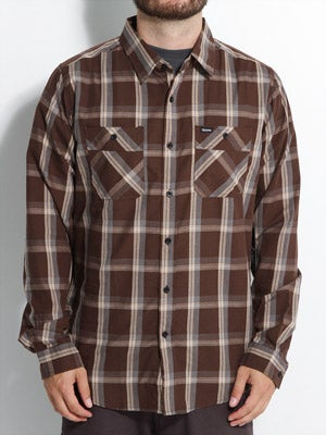 Brixton Memphis Woven Shirt Brown MD