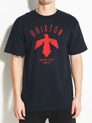 Brixton Shelter Tee Navy MD