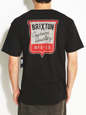 Brixton Stitch Tee Black SM