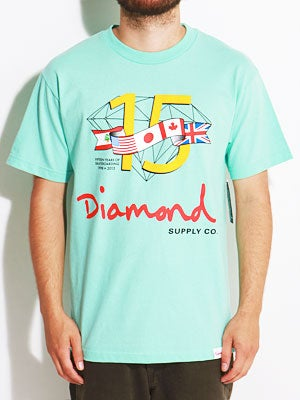Diamond 15 Years Tee Diamond Blue SM