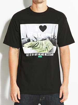 DGK By Any Means Tee Black SM