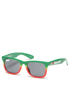 DGK Haters Sunglasses   Rasta Fade