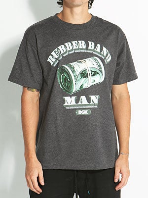 DGK Rubber Band Man Tee Charcoal SM