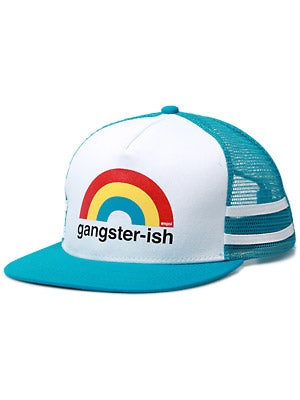 Enjoi Gangster-ish Trucker Hat Turquoise Adjust