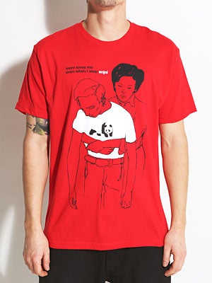 Enjoi Mom Loves Me Premium Tee Red SM