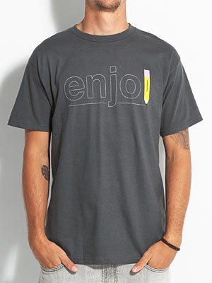Enjoi Pencil Tee Charcoal SM