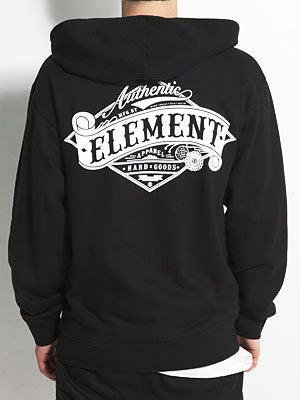 Element Academy Hoodzip Black SM