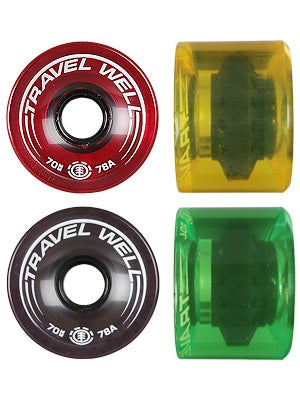Element Boardwalk Spinner Rasta 78a Wheels