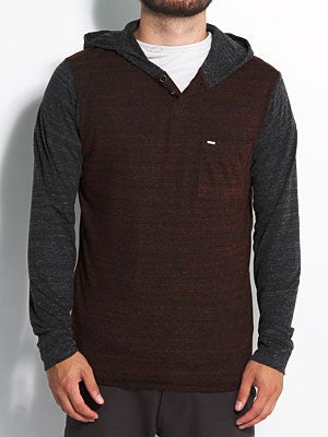 Element Dawson Hooded Knit Shirt Merlot XL