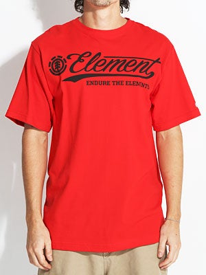 Element Dash Tee Red SM