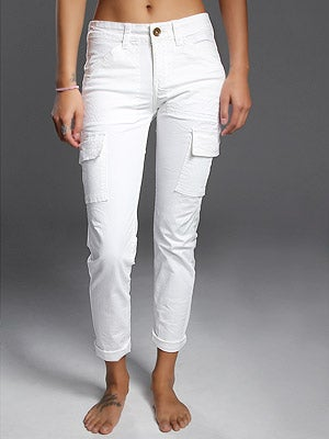 Element Girl's Felicity Cargo Pants White 3