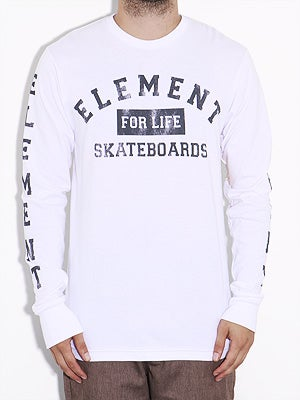 Element For Life Longsleeve Tee White MD