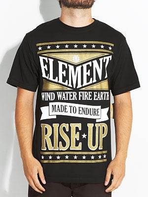 Element Poster Tee Black MD