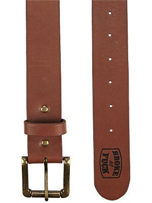 Expedition One Broke Leather Belt Brown One Size