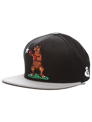 Expedition One Cali Bear Hat Black/Silver Adj.