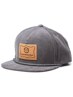 Expedition Cord Patch Snapback Hat Grey Adj.