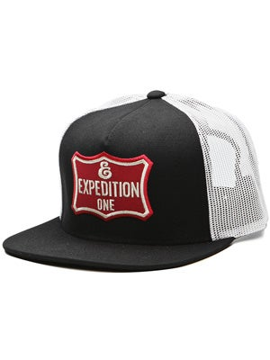 Expedition One On Deck Trucker Hat Blk/Wht Adj