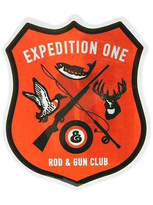 Expedition One Rod & Gun Sticker  Orange