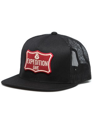 Expedition One Shield Patch Hat Black Adjust