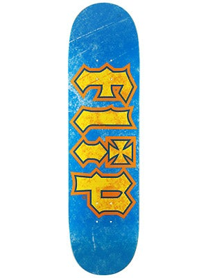 Flip Thrashed Blue/Yellow Deck  8.13 x 32