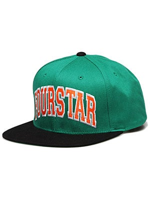 Fourstar Arched Starter Hat Green/Black Adj.