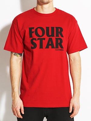 Fourstar Four Hero Tee Cardinal SM
