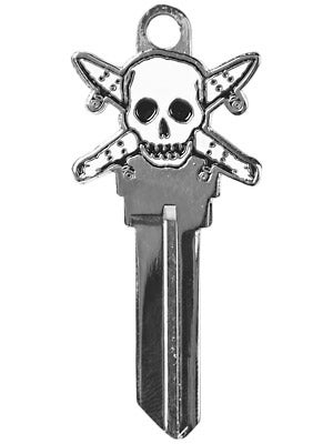 Fourstar Blank Pirate Key  Silver