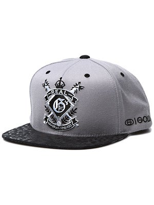 Gold Real G's Starter Hat Silver/Black Adjust