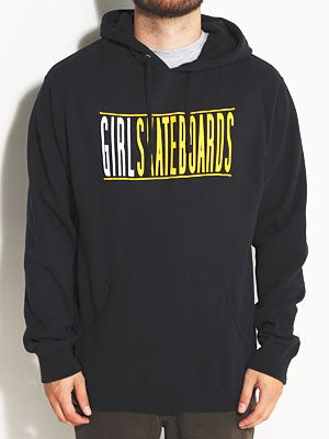 Girl Bars Pullover Hoodie Black XL