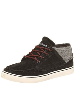 Globe The Bender Shoes  Black/Tweed/Red